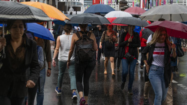Sydney is forecast to receive up to 70 millimetres of rain on Thursday.