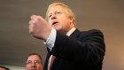"""鲍里斯路约翰逊(Boris Johnson)竞选英国,以""""控制""""我们的法律,我们的金钱和边界。"""