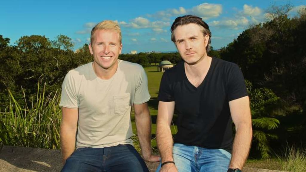 Hamish Macdonald photographed with Ben Emery for Sydney Morning Herald interview