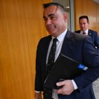 John Barilaro followed by Paul Toole after the National Party meeting this morning.