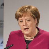 German Chancellor given long standing ovation after stinging Trump takedown