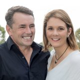 Brigid and her, husband, Tim Palmer.