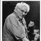 Composer and conductor Leonard Bernstein.