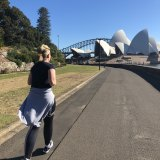 Edwina Bartholomew on her first training run for The Sun-Herald City2Surf, presented by Westpac.