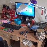 The desk and computer where Falder plotted his crimes.