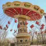 "A ""Flying Carousel"" amusement park ride."