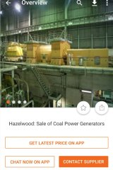 The Hazelwood coal-fired power plant is being sold on Alibaba.