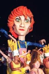Mardi Gras 1997 which featured a massive Pauline Hanson float.