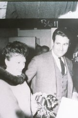 Miller with Judy Garland in Sydney.