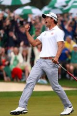 It turned out that Scott's celebrations after making a birdie on the 18th were a warm-up for more jubilation two holes later.