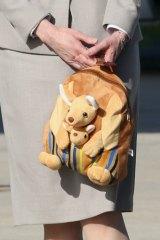 Prince George's cute backpack.