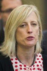 ACT Labor Senator Katy Gallagher also faced the High Court.