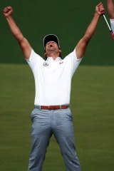 Moment of truth. Adam Scott claims victory.