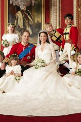 William and Kate with their flower girls and page boys in 2011.