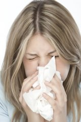 If you can, cover your mouth and nose with a tissue before you sneeze.