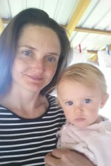 Rachel Pollock, with her second daughter Jovie, born in 2016
