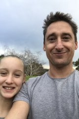 Chris Raynor and daughter Lola on Thursday morning.