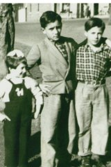 Carmel, Vince and Quin Scalzo in North Melbourne c. 1956.
