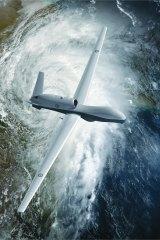 The MQ-4C is manufactured by Northrop Grumman.