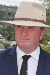 Barnaby Joyce in Armidale last Friday