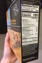 This product from the US shows a nutritional information panel specifying added sugar.
