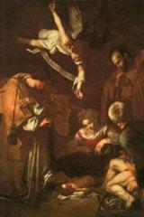 Caravaggio's Nativity with San Lorenzo and San Francesco was stolen in 1969.