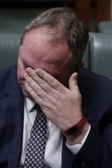 Barnaby Joyce in Question Time.