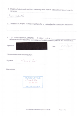 Susan Lamb's renunciation document was stamped by the Home Office on Monday.