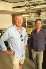 Simon Tilley had plenty of reason to smile on Thursday night, pictured here with his business partner Nick Wills.