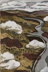 Flying over the Shoalhaven River, 1942, by Margaret Preston.