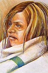 A court sketch of Donna Fitchett.