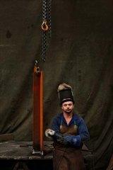 Skills set ... Nick Hanson, a welder at L&A Pressure Welding in Revesby.