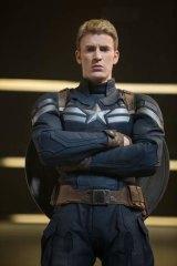 Chris Evans as Captain America/Steve Rogers in Marvel's <i>Captain America: The Winter Soldier</i>.