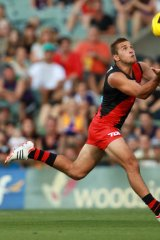 Cory Dell-olio marks during the NAB Cup.