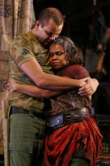 Ursula Yovich plays the central character in 'Mother Courage'.