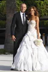 Newlyweds Chris Judd and Rebecca Twigley at Albert Park Lake.