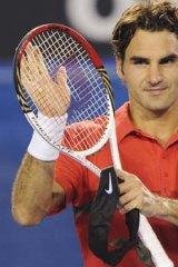 Easy passage ... Roger Federer.