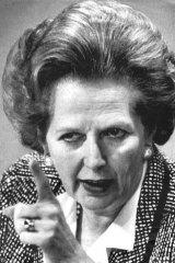 Iron lady ... Margaret Thatcher