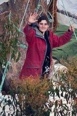 Forest warrior ... Miranda Gibson.