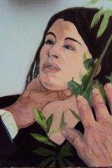 One of the works on sale of Charles Saatchi throttling Nigella Lawson.