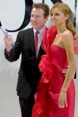 McInnes pictured with Miranda Kerr.