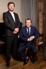 Chef Scott Pickett and critic Tom Parker Bowles are the hosts of Channel Nine's <i>The Hotplate</i>.