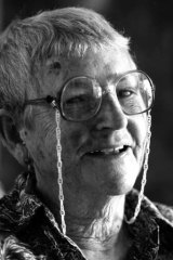 An inspiration ... feminist and labour activist Edna Ryan, who was one of the five women to organise the first International Women's Day March in 1928, at her home in Glebe in 1984.