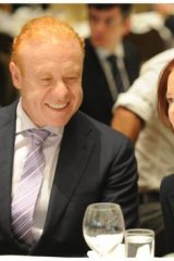 Prime Minister Julia Gillard and Anthony Pratt at an Australia-Israel Chamber of Commerce event.