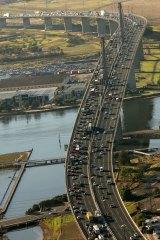 Congestion on the West Gate Bridge