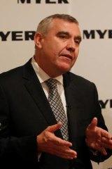 Myer CEO Bernie Brooks.