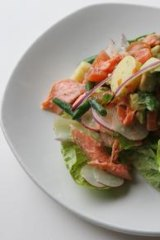 Trout salad.