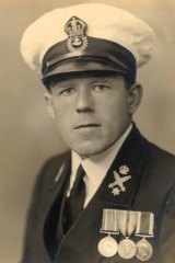Man of the sea ... Claude Choules in the Royal Australian Navy.