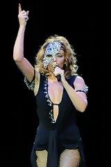 Singer Kylie Minogue performing in June.