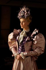 Christine Whelan in full frock for the <i>Importance of Being Earnest</i>.